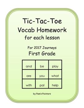 Journeys 2017 - 1st grade  Reading Vocabulary Homework Pra