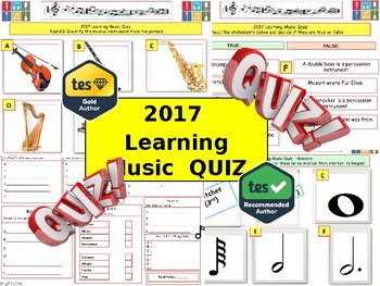 2017 - Learning Music Quiz (Musical notes Quiz) - 7 rounds and 44+Q