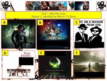 2017 - The Big Film and TV Quiz  (Film and TV) - 8 rounds and 50+Questions