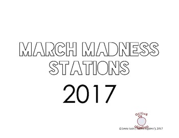 2017 March Madness Math Stations