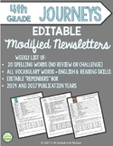 Modified Editable Fourth Grade, Weekly Newsletters BUNDLE