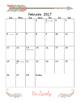 2017 Monthly Calendar w/ Holidays - Portrait
