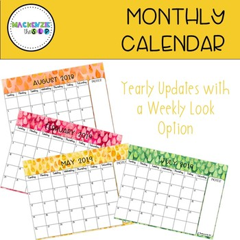 2017 Monthly Planner: YEARLY Update
