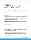 2017 Multicultural and Diverse Identities Literature Book List