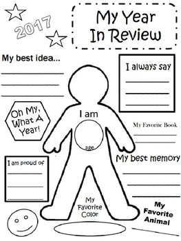 2017 My Year in Review Activity Sheet