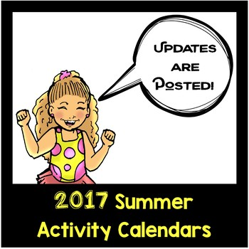 2017 NO PREP Summer Activity Calendars are Posted!!!