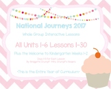 Journeys Kindergarten ALL Units (1-6)  All Lessons 1-30 WTK 1 and 2 Smartboard