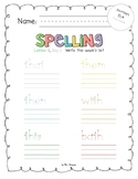 2017 National Journeys First Grade Spelling Practice Sheets/Centers, Unit 3