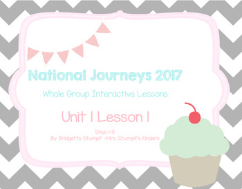 *FREEBIE* 2017 Natl. Journeys Unit 1:Lesson 1:Days, 1-5 Kindergarten SmartBoard
