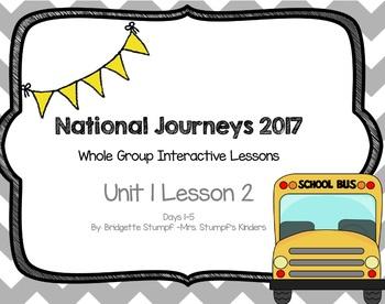 2017 National Journeys Unit 1: Lesson 2: Days, 1-5 Kindergarten SmartBoard