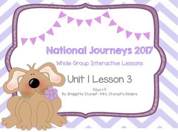 2017 National Journeys Unit 1: Lesson 3: Days, 1-5 Kindergarten SmartBoard