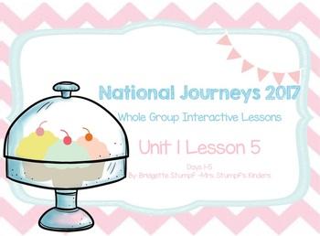 2017 National Journeys Unit 1: Lesson 5: Days, 1-5 Kindergarten SmartBoard