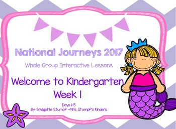2017 National Journeys Unit 1: WTK Week 1: Days, 1-5 Kindergarten SmartBoard