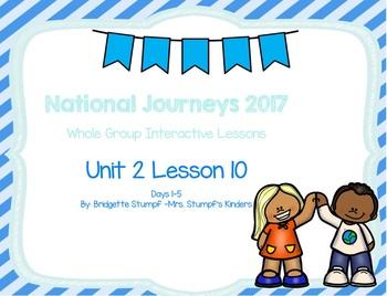 2017 National Journeys Unit 2: Lesson 10: Days, 1-5 Kindergarten SmartBoard