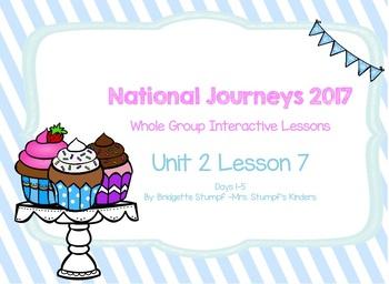 2017 National Journeys Unit 2: Lesson 7: Days, 1-5 Kindergarten SmartBoard