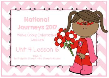 2017 National Journeys Unit 4: Lesson 16: Days, 1-5 Kindergarten SmartBoard
