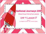2017 National Journeys Unit 4: Lesson 17: Days, 1-5 Kindergarten SmartBoard