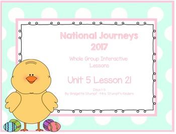 2017 National Journeys Unit 5: Lesson 21: Days, 1-5 Kindergarten SmartBoard