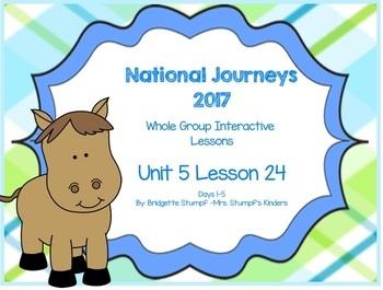 2017 National Journeys Unit 5: Lesson 24: Days, 1-5 Kindergarten SmartBoard