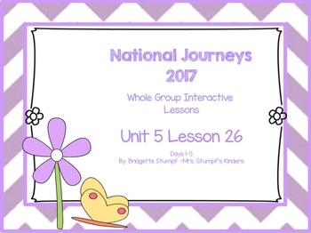 2017 National Journeys Unit 6: Lesson 26: Days, 1-5 Kindergarten SmartBoard