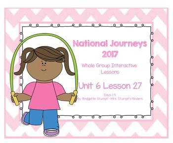 2017 National Journeys Unit 6: Lesson 27: Days, 1-5 Kindergarten SmartBoard