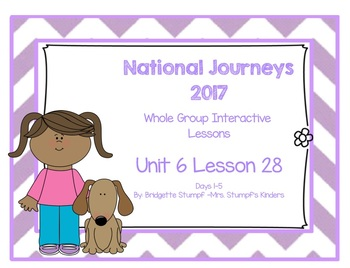 Journeys Kindergarten Unit 6: Lesson 28: Days, 1-5 SmartBoard