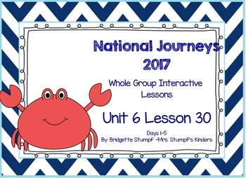 Journeys Kindergarten Unit 6: Lesson 30: Days, 1-5 SmartBoard