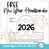 2018 New Year Headbands: Speech Therapy Freebie