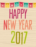 2017 New Year Writing Activity