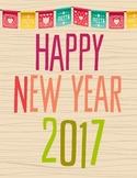 2017 New Year Writing Activity
