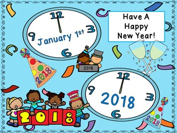 2017 New Year's Freebie! Roll & Color, Seek-n-Find & Door Sign