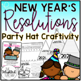 2018 New Year's Resolution Party Hat {Writing & Craftivity}