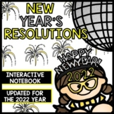 2018 New Year's Resolutions - Interactive Notebook - Reading Writing - Flip Book