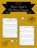 2017 New Year's Writing Paper