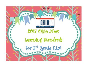 2017 Ohio New Learning Standards 3rd Grade ELA