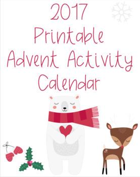 2017 Printable Advent Activity Calendar