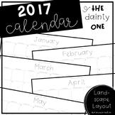 2017 Printable Calendar - The Dainty One