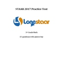 3rd Grade STAAR Math 2017 Practice Test!  Free at LessTest