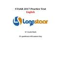 2017 STAAR Math 4th Grade English Benchmark!