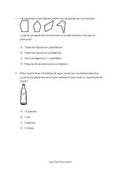 3rd Grade STAAR Math 2017 SPANISH Practice Test! Free at LessTestPrep.com