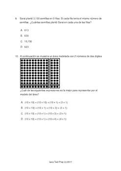 2017 STAAR Spanish 4th Grade Math Practice Test!