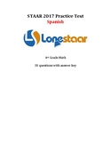 2017 STAAR Spanish 4th Grade Math Practice Test! FREE at L