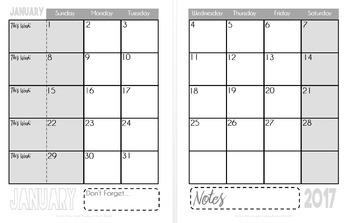 2017 Sanity Saver: 12-Month Calendar (January - December)