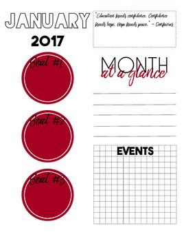 2017 Sanity Saver: Month-At-A-Glance (Jan - Dec)