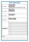 2017 School Calendar  + Term Dates NT