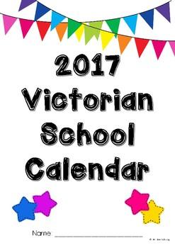 2017 School Calendar for Victorian Schools