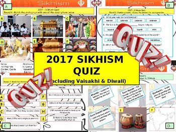 2017 - Sikhism Quiz including Vaisakhi & Diwali - 7 rounds and over 40 Questions