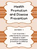 2017 South Carolina Grade 6 Health I Can Statement Posters