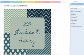 2017 OneNote Student Diary