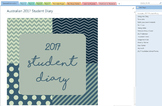 2017 OneNote Student Diary